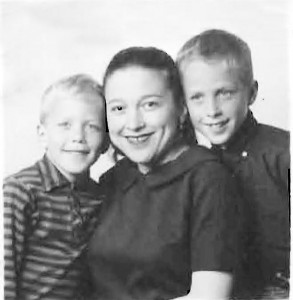 Paula Peck and children