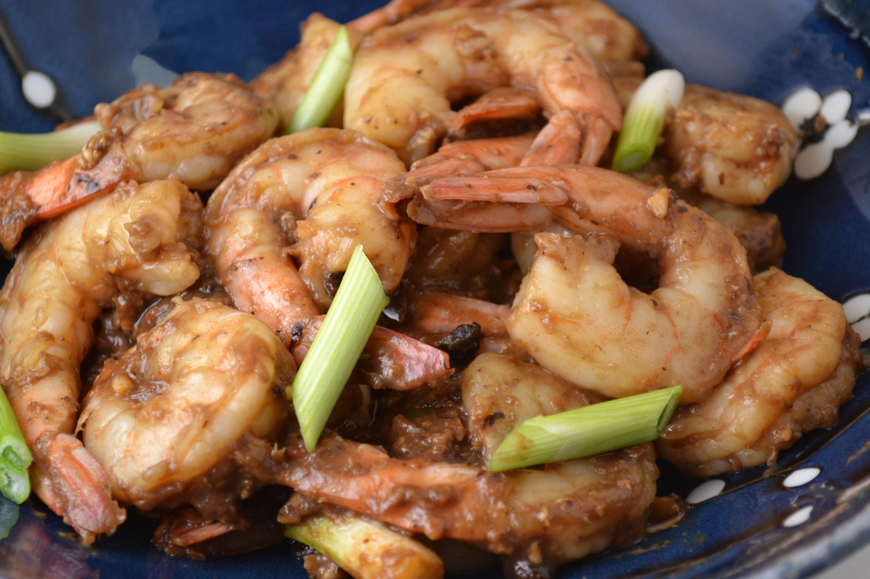 Chinese Style Shrimp in Black Bean Sauce