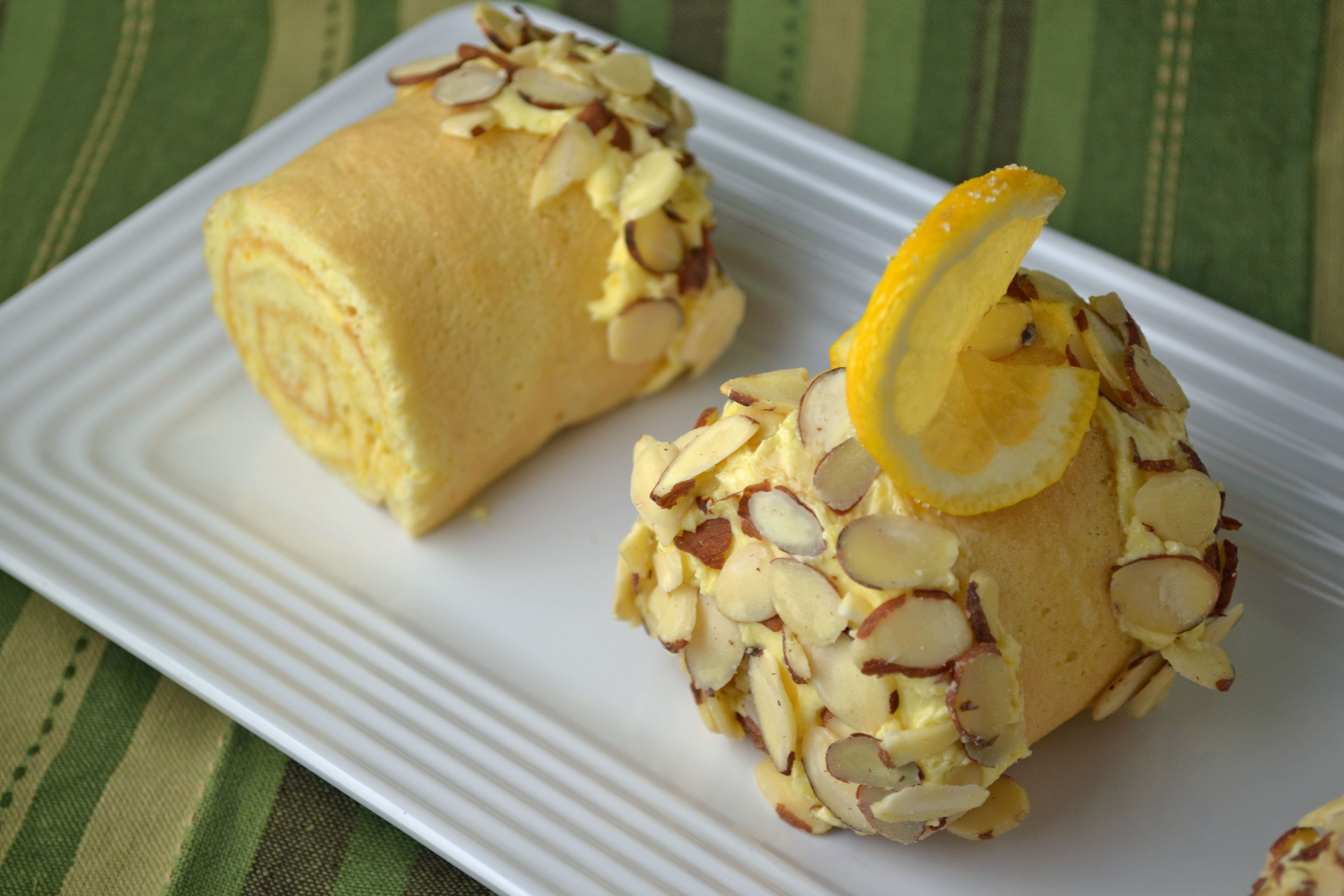 Lemon Cake Logs by Paula Peck