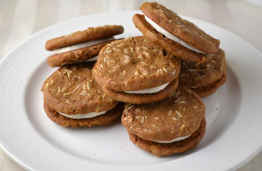 Ginger Almond Sandwich Cookies